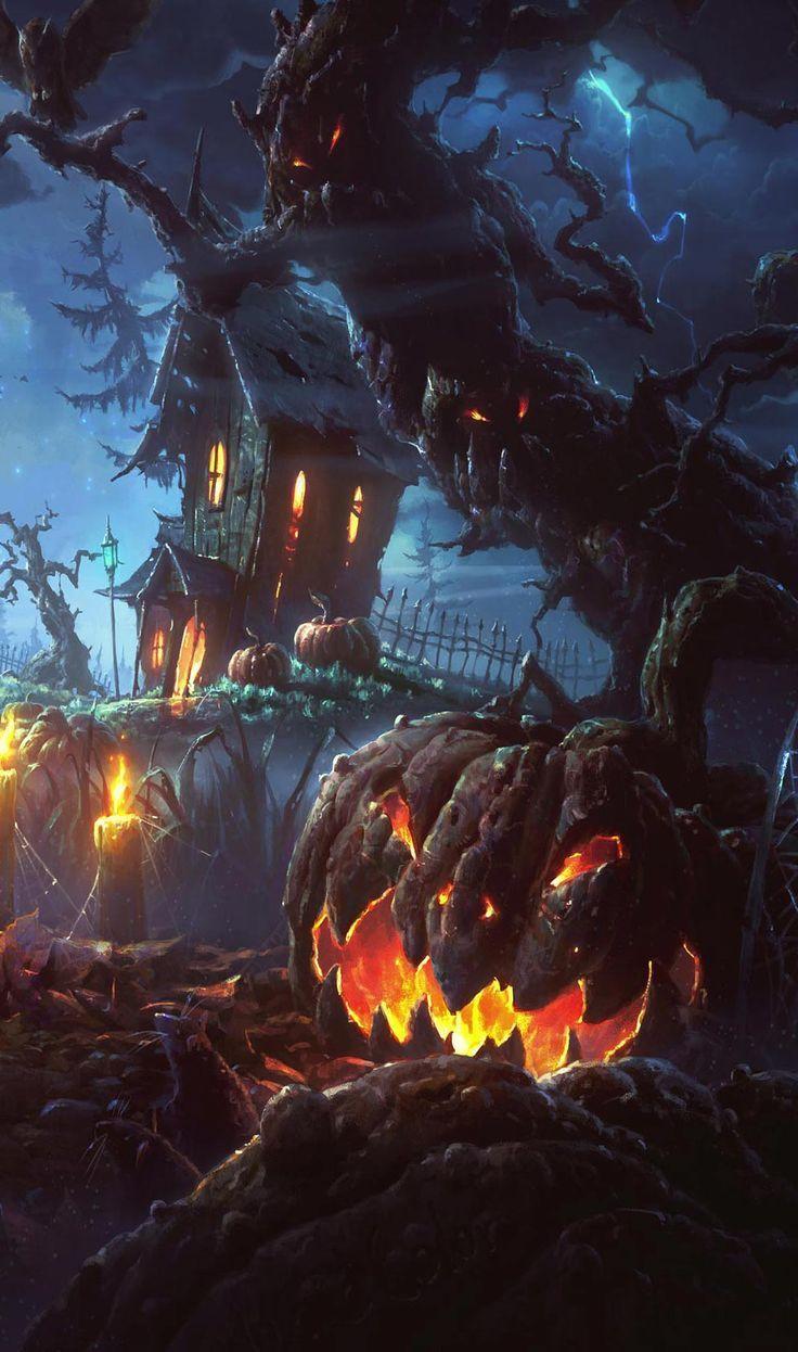 Pin Di Freewallpapers4k Com Su Stuf Sfondi Di Halloween Cose Di Halloween Arte Di Halloween