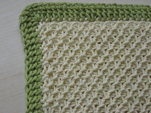 how to make an easy tunisian crochet blanket