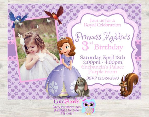 Sofia the first Invitation Princess Sofia the first by CutePixels
