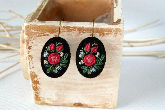 Embroidered earrings. Embroidered earrings. by EmbroideredJewerly