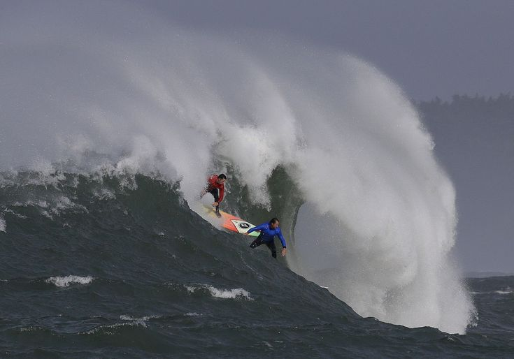 The Titans of Mavericks big-wave surfing competition is underway in Northern California, but it comes amid a debate over whether more women should be involved in the event.
