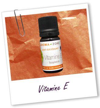 Antioxydant Vitamine E du site Internet: Aroma-Zone, en complément des pigments de couleurs et de la cire...
