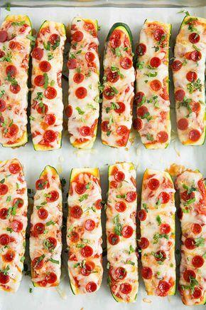 Zucchini-Pizza-Schiffchen