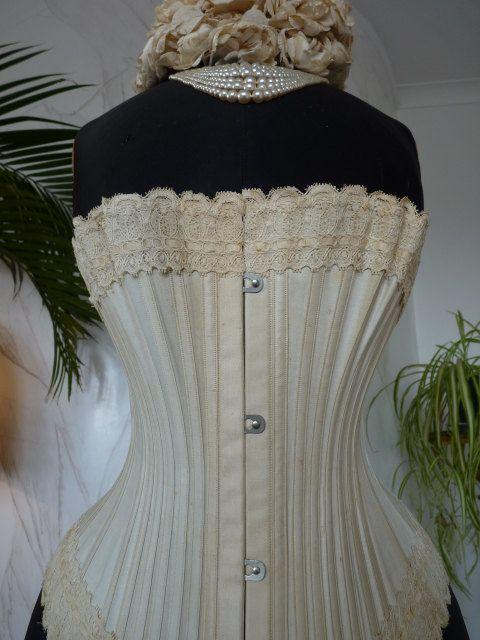 1890 Antik MARINA Corset Korsett viktorianisches Korsett