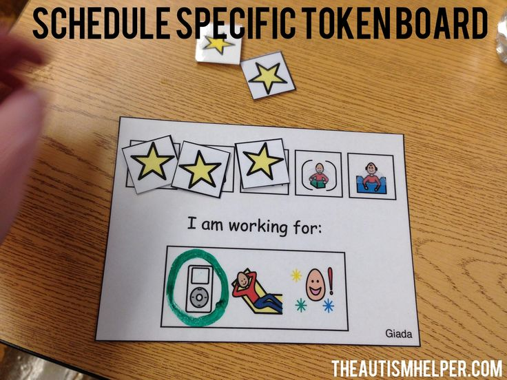 Token boards are a classroom essential. They provide a means of giving students reinforcement without constantly have cheetah or iPad breaks.  by theautismhelper.com