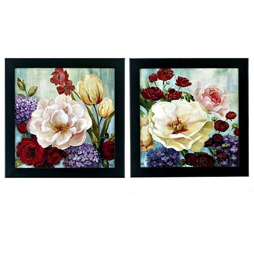 Bright And Beautiful Set Of 2 Framed With Glass 23 X 23 Set Of 2 Item 74898