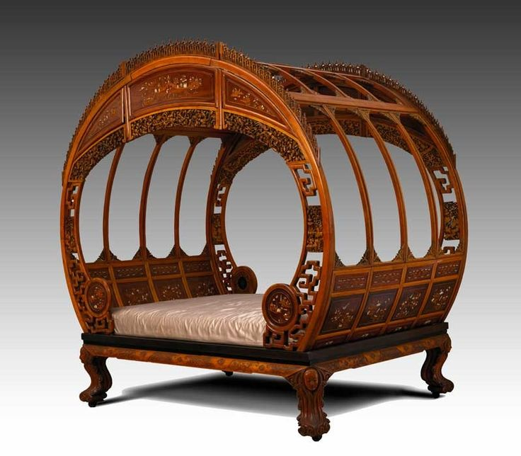 Antique Bed: Moon Bed. Ca. 1870-1880 Artist Not Identified Ningpo