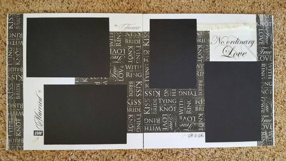 Pre-made 12x12 Wedding Scrapbook Pages by WhimsicalScrapbooks