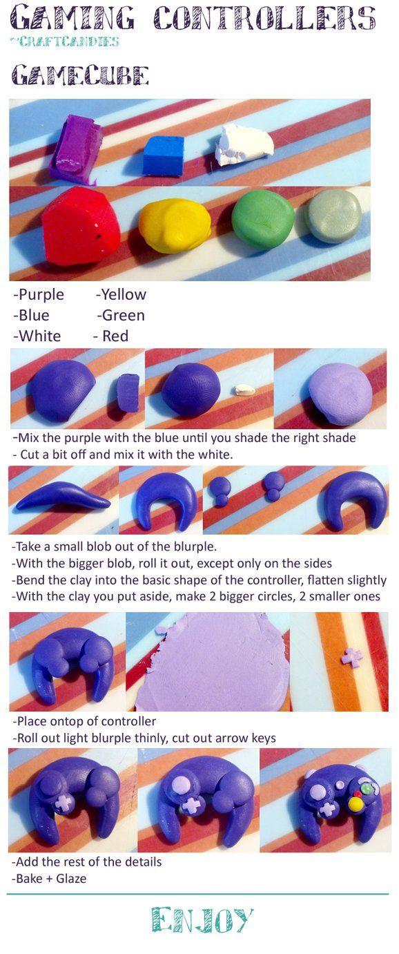 Polymer Clay : Gamecube Controller Tutorial by ~CraftCandies on deviantART