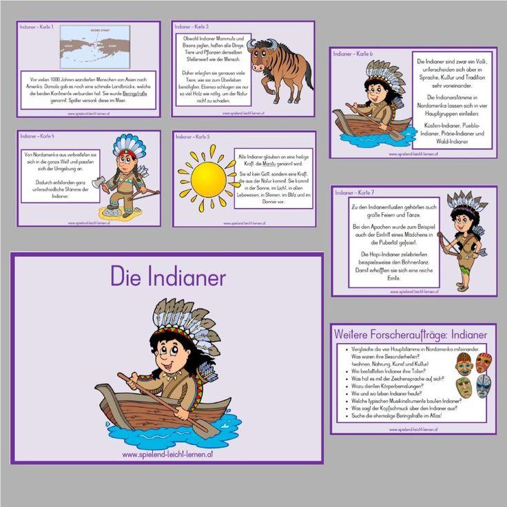 Indianer - Sachkartei