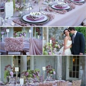 Uma paleta de cores que trás harmonia ao casamento, dando um lindo toque degradé que vai do lilás ao roxo!