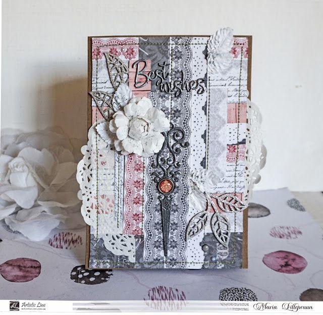 Handmade feminine card by Maria Lillepruun