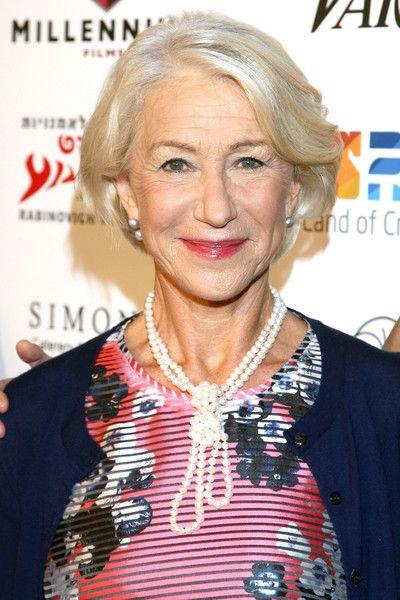 Helen Mirren Layered Pearl Necklace