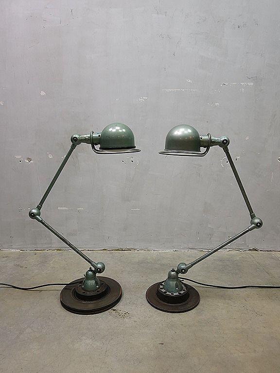 Original Jielde industrial vintage design desk lamp France, Jielde lamp industrieel vintage www.bestwelhip.nl