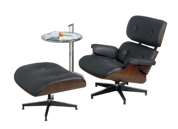 replica eames lounge fauteuil stoel chair en hocker. Black Bedroom Furniture Sets. Home Design Ideas