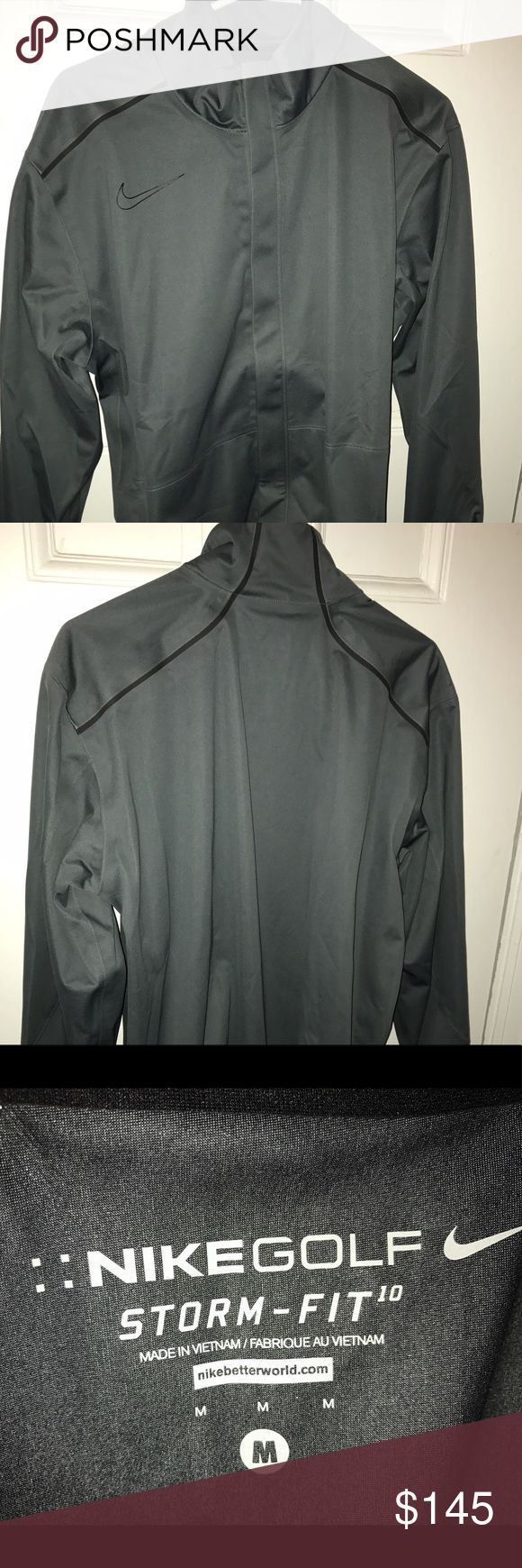 Nike Storm-Fit 10 Nike Golf Jacket I'm selling a turquoise/gray men's Nike storm-fit jacket, size Medium. Great for rain or as an extra layer. Excellent condition, like new. Ready to be shipped and worn immediately! Nike Jackets & Coats Performance Jackets