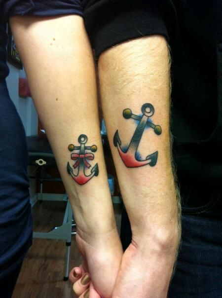 Boyfriend And Girlfriend Matching Tattoos – Designs and ...