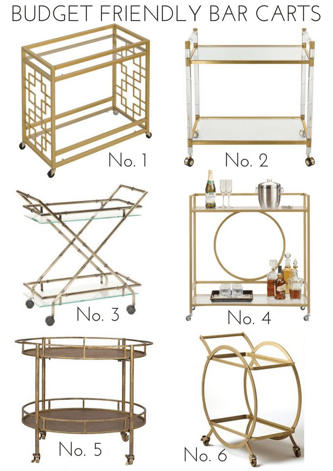 Budget Friendly Bar Carts | Effortless Style Blog | Bloglovin'