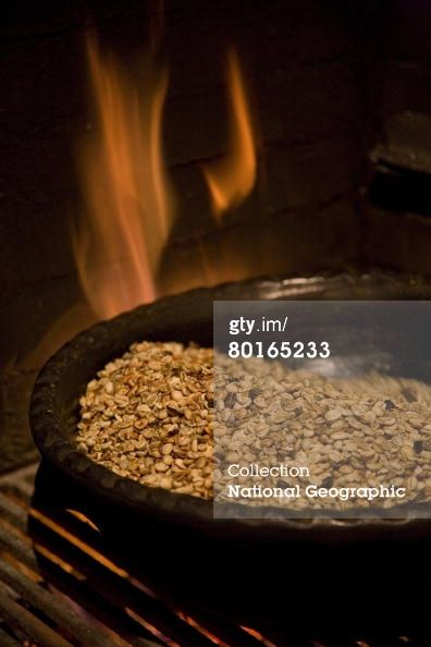 Roasting coffee beans La Pedregosa Alta Merida Venezuela News Photo 80165233