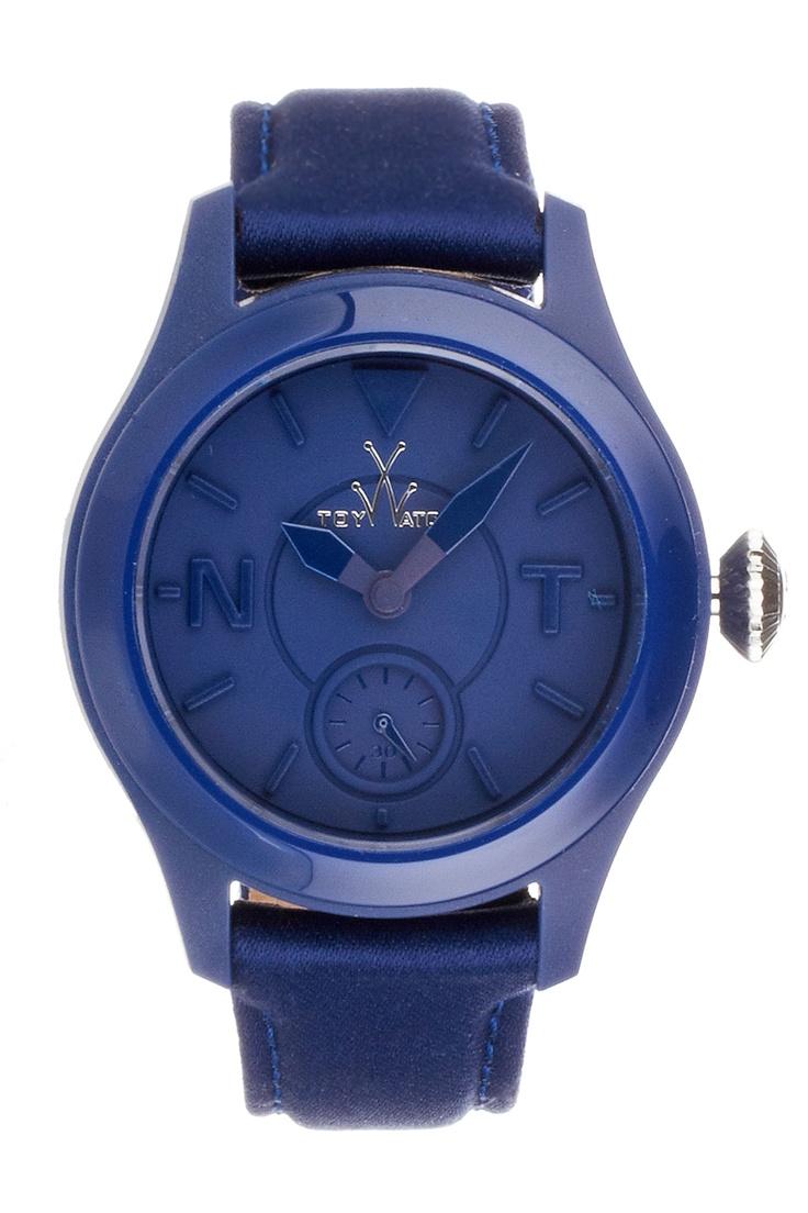 Venda ToyWatch / 7970 / Unissexo / Business / Relógio de Couro Azul-Marinho. De 190e por 79e.