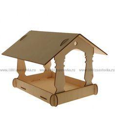 Для дома - изделия из фанеры : Кормушка для птиц (фанера)