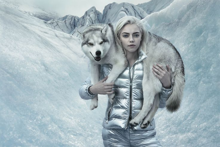 Once the Ice Queen took possession of Lucky's soul, Pyper was blown away by a terrible snowstorm. She found herself alone but she did not abandon herself: she firmly resolved to free her brother from the ice prison. An astonishing white wolf suddenly appeared in front of her and walked alongside her with a protective air #moncler #fw15