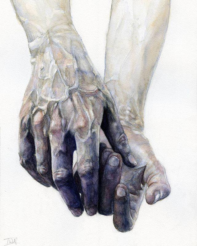 Creepy hands painting done   #bluehands #handstudy #watercolour #watercolor #sennelier #illustrationart #illustration #watercolours #art #artist #instaart #instaartist #painting #drawing #sketch #abstract #leedsartist #leedsart