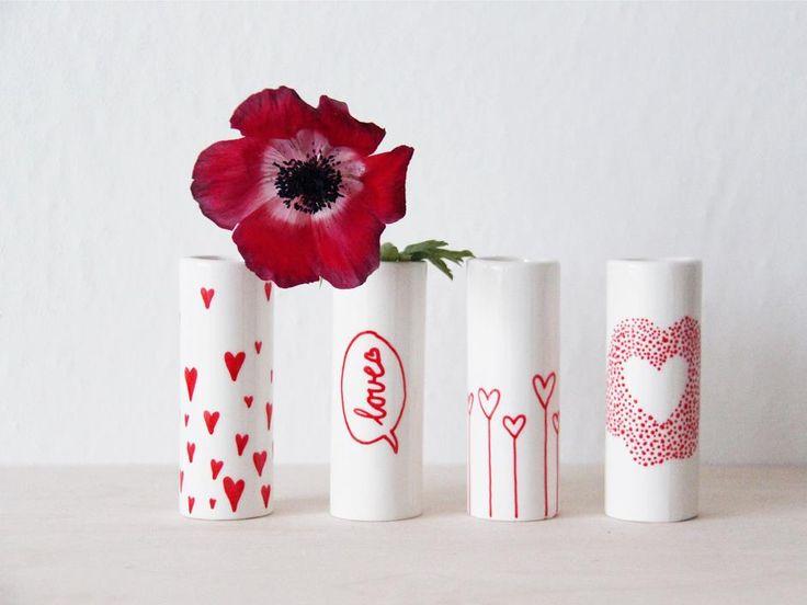 Vaser med kærlighed, DIY, kærlighedsgave, DIY project, easy project, DIY Valentine's Day, valentinsdag