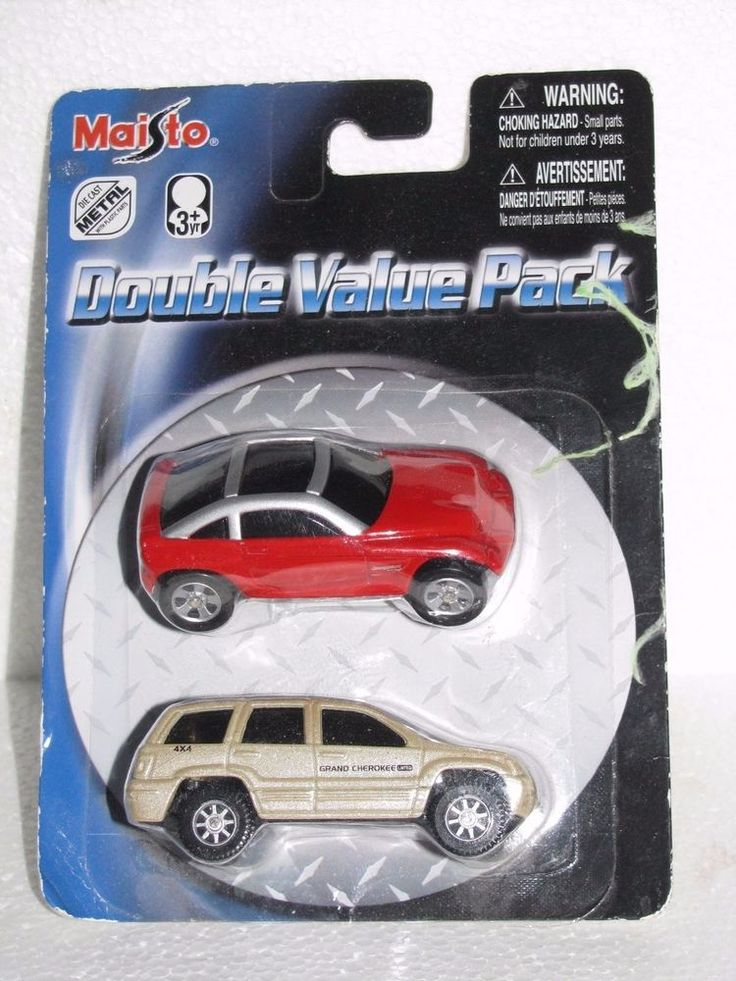 Maisto Die Cast Metal Double Value Pack Toy Cars 2006 New In Pack #Maisto