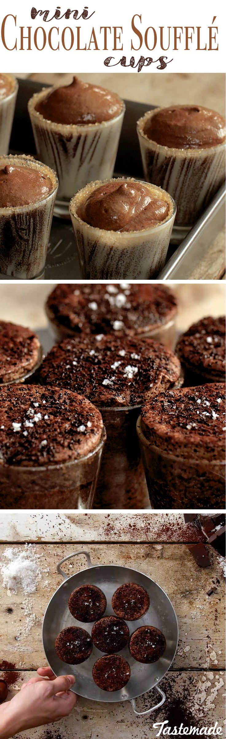When your dessert table calls for something a little fancy, fluffy chocolate topped with sea salt is the answer.