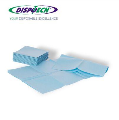 Dispo Drapes, le salviette paziente piegate, utili per l'asciugatura post lavaggio