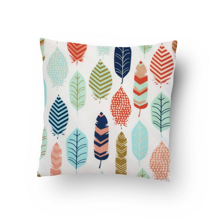 Feathers pillow throw - Colorful feather pillow - Nursery pillow feathers - Tribal nursery