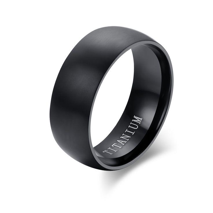 Meaeguet Fashion Men Titanium Ring High Quality Black Titanium Wedding Rings For Men And Women