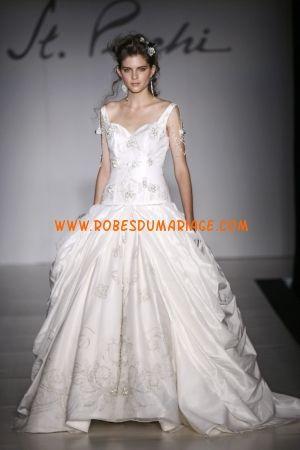 St. Pucchi belle robe de mariée 2012 originale de luxe avec broderie satin