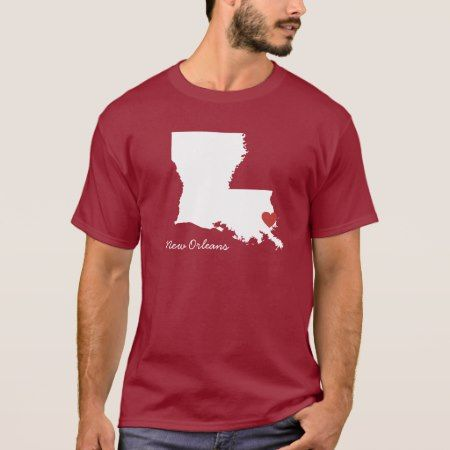 I Heart Louisiana - Customizable City T-Shirt - click to get yours right now!