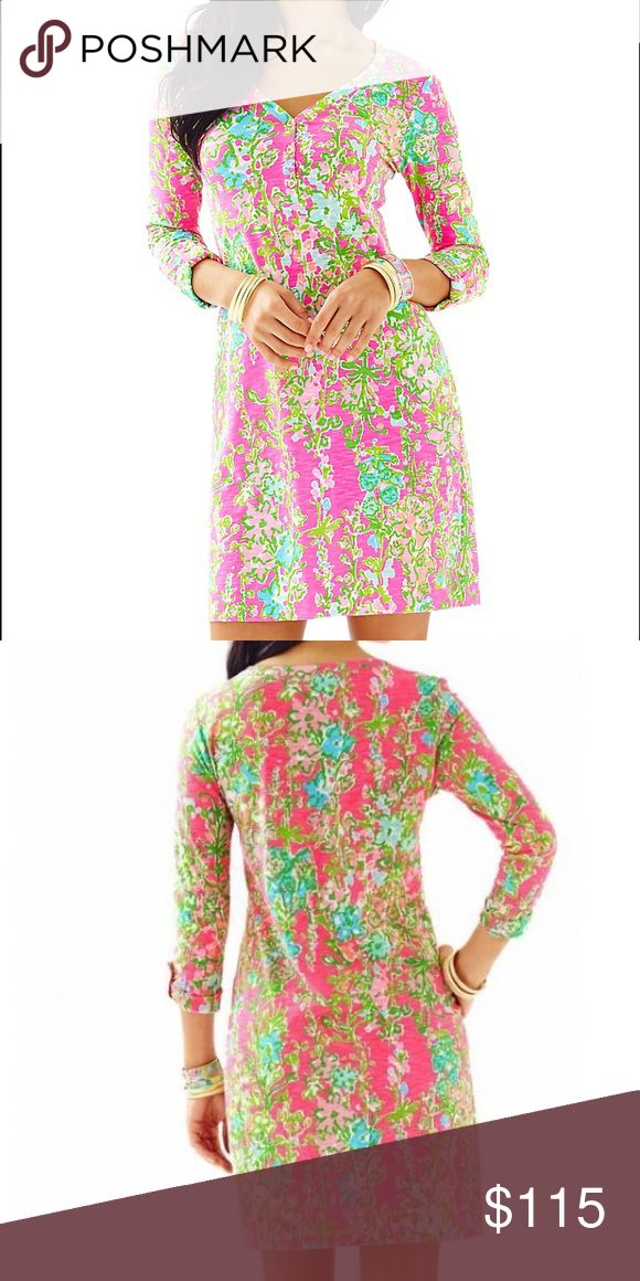 NWT Lilly Pulitzer Southern Charm Dress NWT. Doesn't fit me at all:( so sad! Print is souther charm. More pics soon. 100% cotton. Lilly Pulitzer Dresses Midi