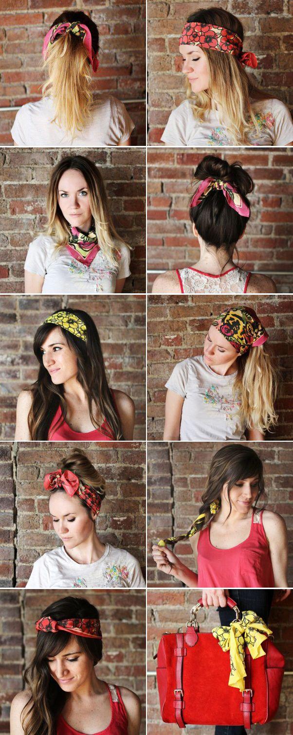 Várias maneiras para usar aquele lencinho que você ama! #diy #beauty #fashion #scarf