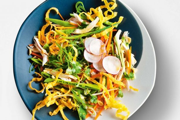 Roasted salted peanuts add extra crunch and a salty burst to this salad.