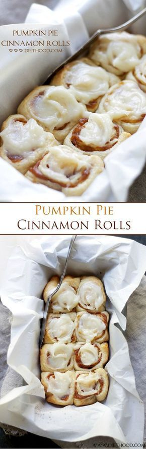 Cinnamon Rolls filled with a delicious pumpkin pie filling and topped with an incredible pumpkin pie spice cream cheese frosting! Ready in 30-MINUTES!!