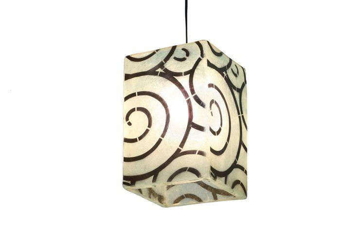 Straight Up - hanging/table lamp (2 designs) Χειροποίητο φωτιστικό απο fiberglass. Μπορεί να χρησιμοποιηθεί ως επιτραπέζιο ή φωτιστικό οροφής.  Χρώματος light mint blue (πολύ ανοιχτό γαλάζιο) στο background, με μαύρο design.  Διαστάσεις: 20 x 20 x 30cm  Το φωτιστικό διατίθεται με ντουί E27, οπότε μπορεί να δεχθεί όσα Watt χρειάζεστε για τον χώρο σας, καθώς και λάμπες οικονομίας, led, ή λάμπες που ντιμάρονται.