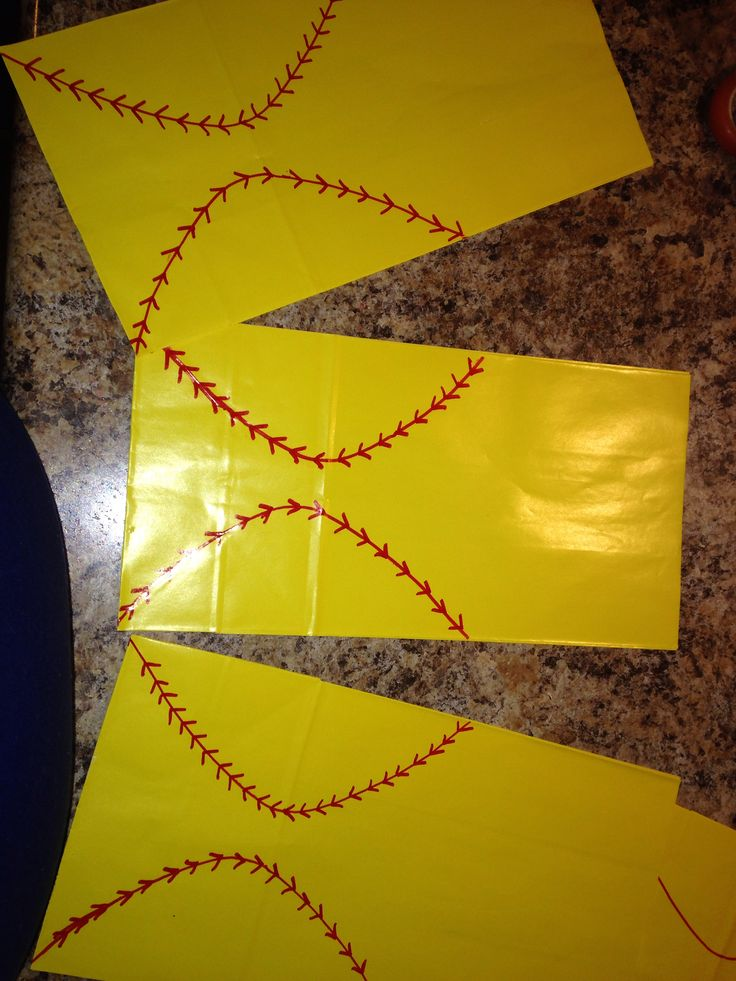 Softball Treat Bags Party Themes And Ideas Pinterest