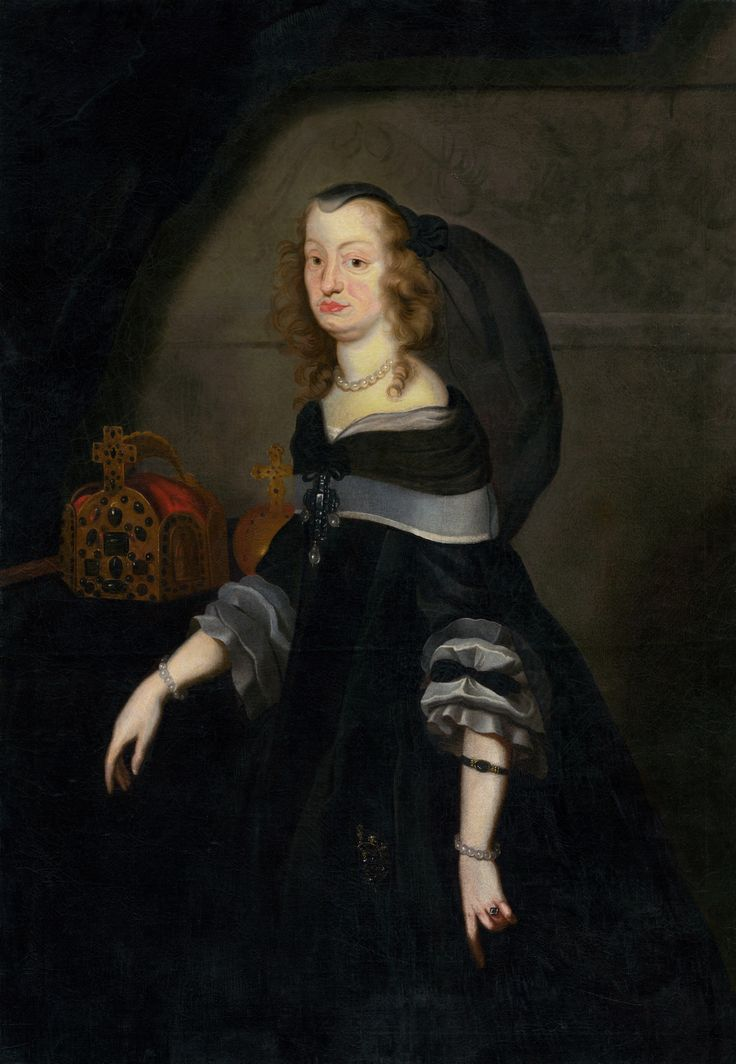 Portrait of Empress Dowager Eleonor Gonzaga (1630-1686) by Frans Luyckx, ca. 1662 (PD-art/old), Slovenská národná galéria (SNG), the Empress attended the wedding ceremony of her daughter Eleanor Maria Josepha of Austria with Michael Korybut Wiśniowiecki on 27 February 1670 in the Jasna Góra Monastery; the Empress presented the King of Poland with a saddle set with silver, diamonds and rubies and a sword set with diamonds