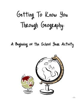 Geography teachers, are you always looking for a great get-to-know-you geography activity for the beginning of the year. This activity will encourage your students to become familiar with their classmates as they work in groups and rotate stations. What a great introduction to basic geography skills such as graphs, charts, maps and the concept of culture.
