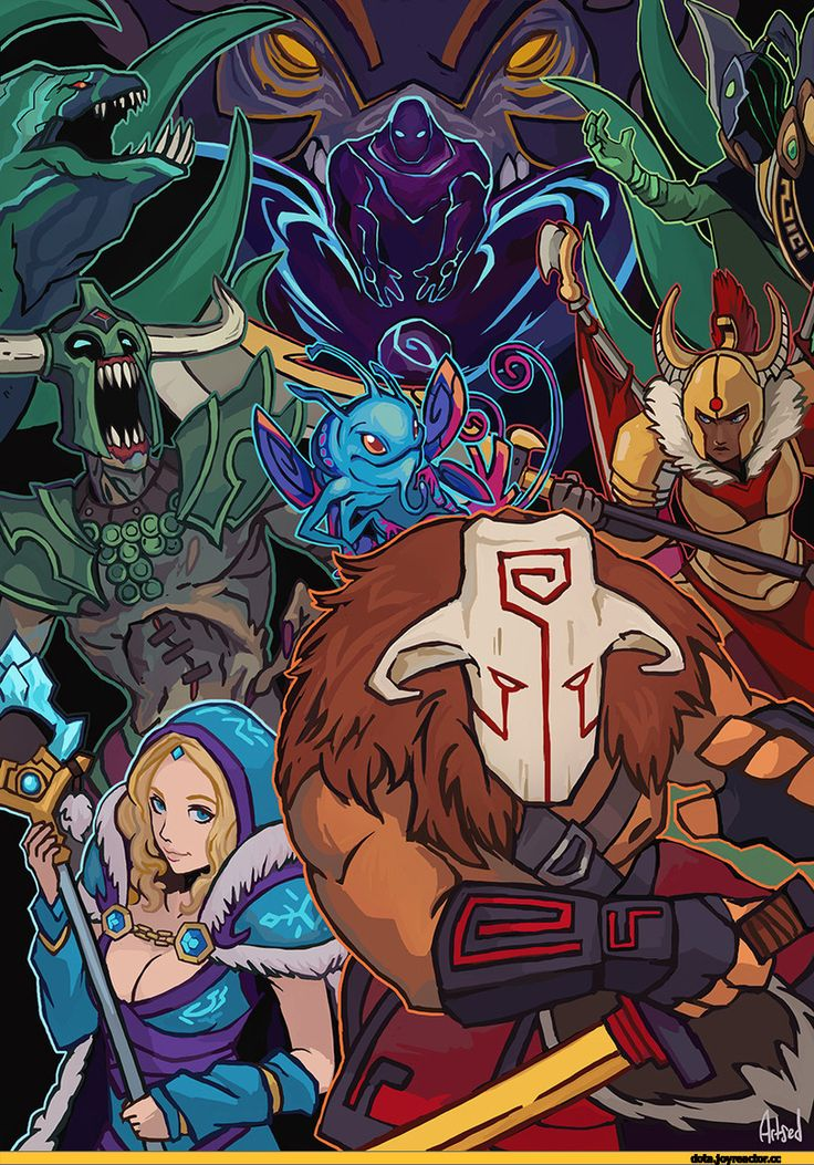 #Dota2 Dota,фэндомы,Dota Art,blazemalefica,Yurnero the Juggernaut,Rylai the Crystal Maiden,Puck the Faerie Dragon,Tresdin the Legion Commander,Undying the Almighty Dirge,Leviathan the Tidehunter,Rubick the Grand Magus,Ulfsaar the Ursa Warrior