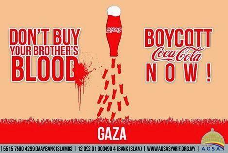 #LC || Kampen Boikot Coca-Cola Israel.. Kini Bermula!! Aku dah Anda pula bagaimana? Masih belum terlambat..  Nota: Klik, Baca, Follow, Like & Share ^_^