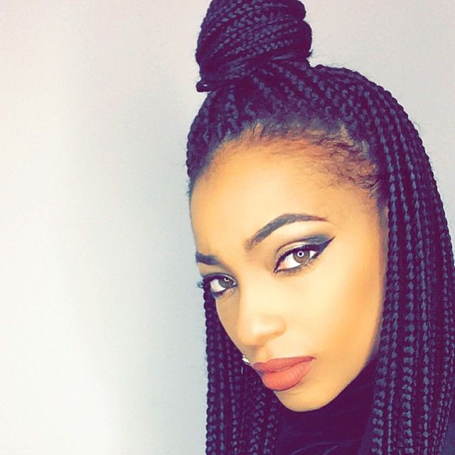 Admirable 1000 Images About Box Braids On Pinterest Big Box Braids Short Hairstyles For Black Women Fulllsitofus