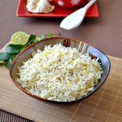Cumin Flavored plain rice made healthy with the addition of yellow ...