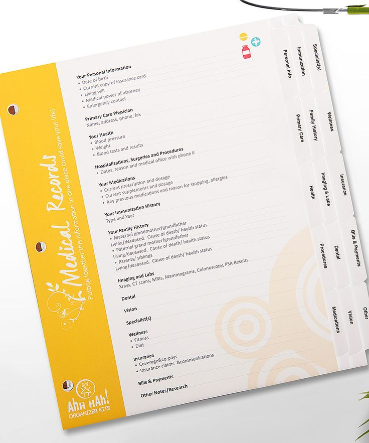Best Organize Medical Records Images On   Printables