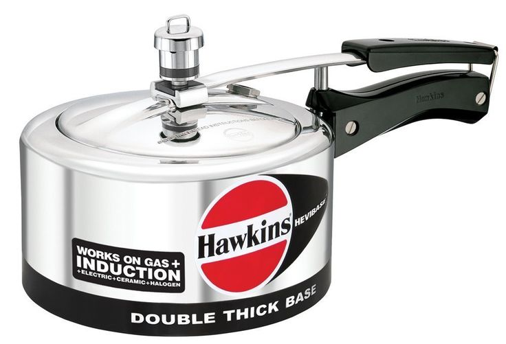 ORIGINAL HAWKINS HEVIBASE 3.5 LITRE DOUBLE THICK BASE WORKS ON GAS AND INDUCTION PRESSURE COOKER WITH DHL SHIPPING 4-5 DAYS DELIVERY *** You can get more details here : Pressure Cookers