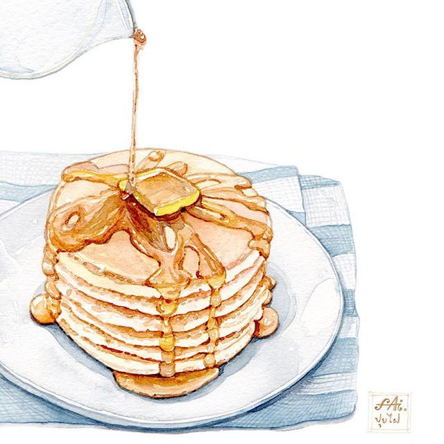 """John Gunther once said """"All happiness depends on a leisurely breakfast. """" ,so... what about pancakes for tomorrow morning? ☕️"""